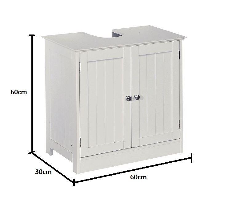 New-White-Wooden-Bathroom-Cabinet-Shelf-Furniture-Cupboard-Bedroom-Storage-Unit miniatuur 17