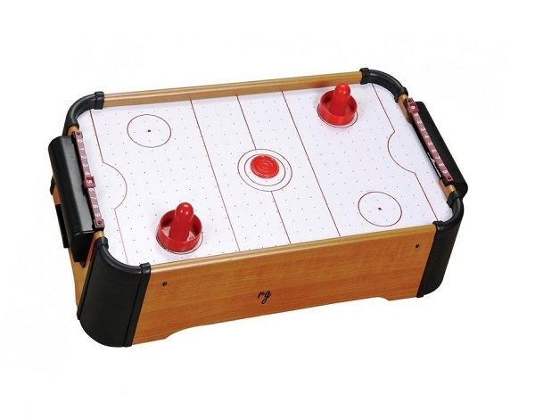 "NEW 20"" MINI TABLE TOP AIR HOCKEY ELECTRONIC GAME FAMILY KIDS FUN ARCADE TOY"
