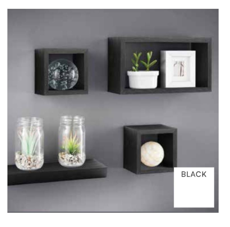 miniature 9 - Set-of-3-or-4-Floating-Wall-Shelves-Storage-Display-Shelf