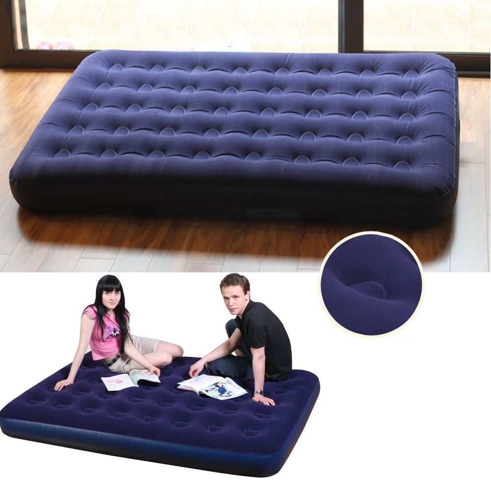 Royal Single Flock Airbed inflatable luxury Air Bed Camping Mattress