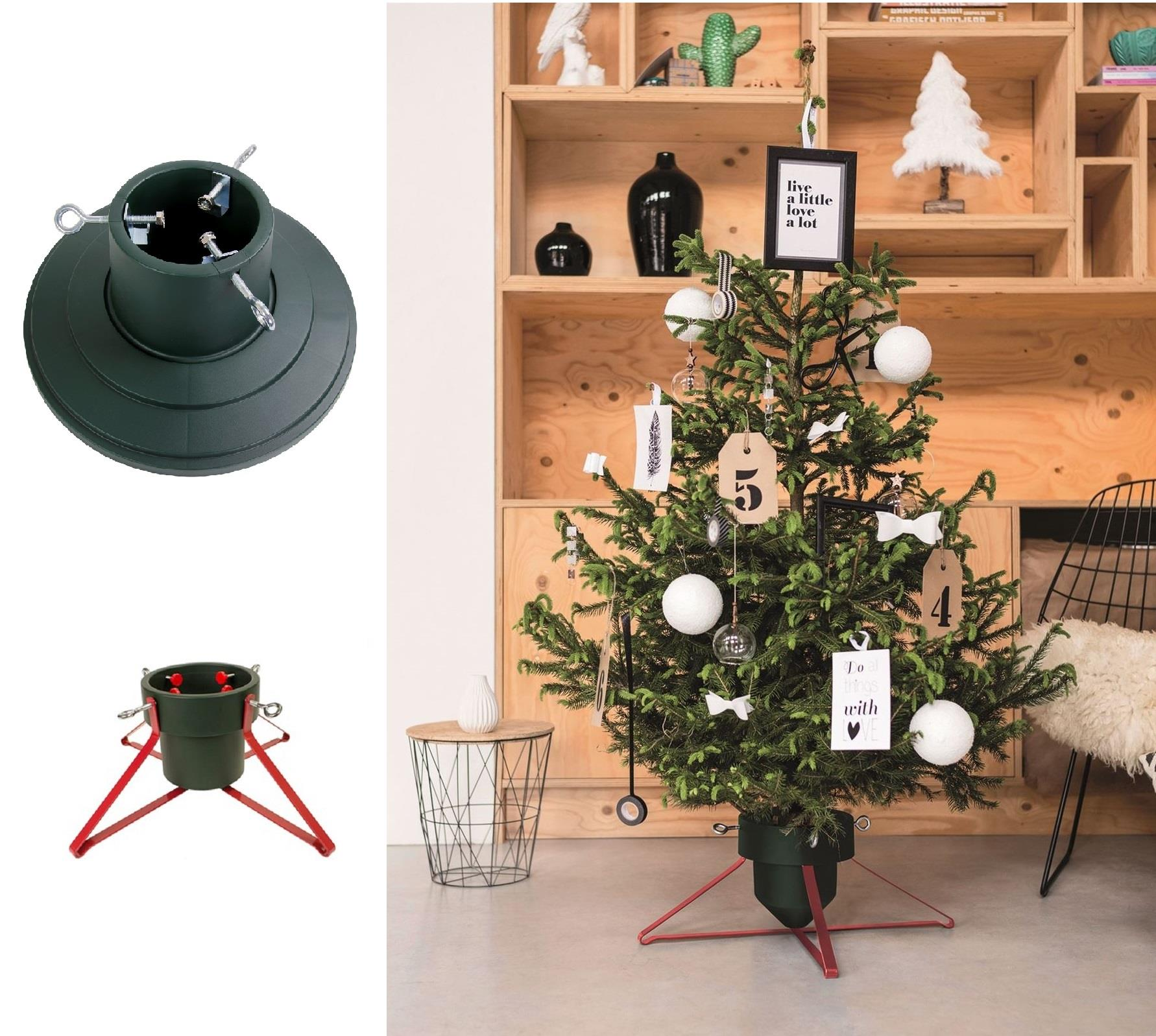New Christmas Tree Stand For Real Xmas Trees Traditional Solid Adjustable Base Ebay