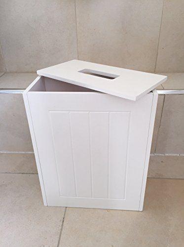 New-White-Wooden-Bathroom-Cabinet-Shelf-Furniture-Cupboard-Bedroom-Storage-Unit miniatuur 12