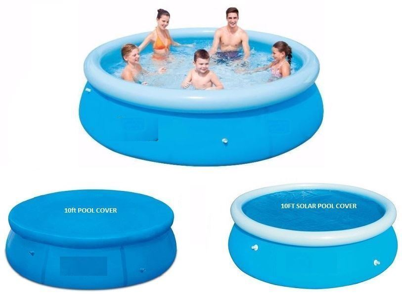 New 8ft Fast Set Family Swimming Paddling Pool And