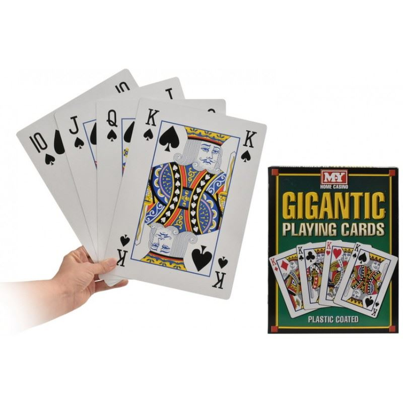 Jumbo Giant Playing Cards 9 x 13cm