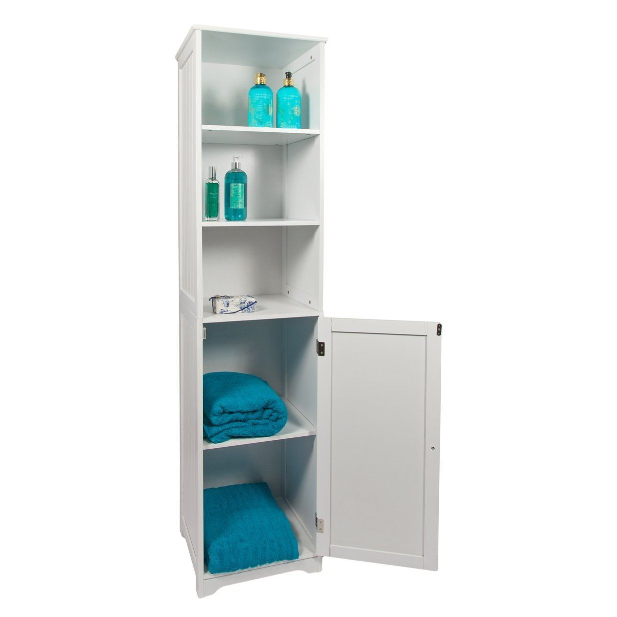 White Bathroom Furniture Storage Cupboard Cabinet Shelves: New White Wooden Bathroom Cabinet Shelf Furniture Cupboard