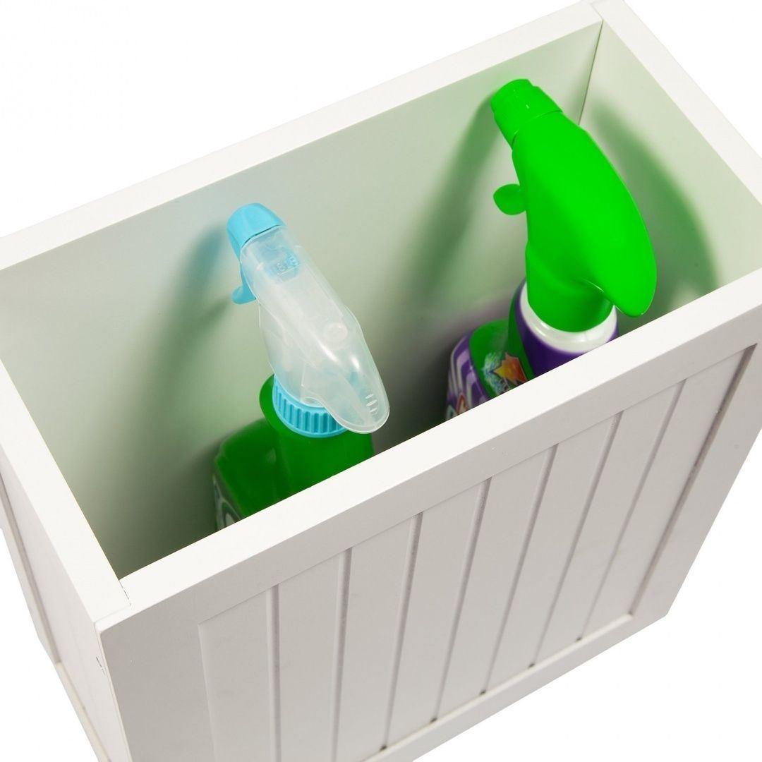 New-White-Wooden-Bathroom-Cabinet-Shelf-Furniture-Cupboard-Bedroom-Storage-Unit miniatuur 11