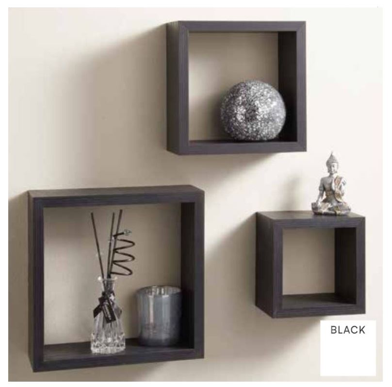 miniature 5 - Set-of-3-or-4-Floating-Wall-Shelves-Storage-Display-Shelf