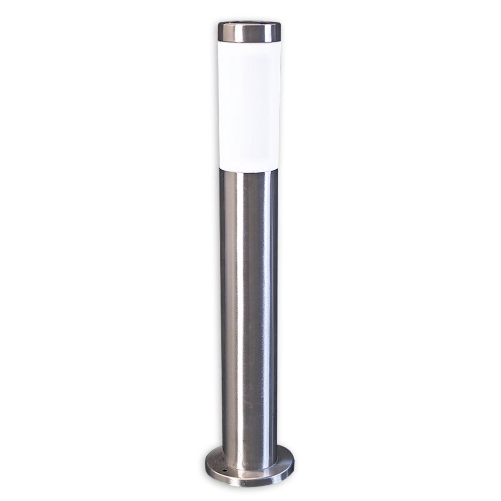 New Solar Stainless Steel Post Light 60cm Garden Driveway