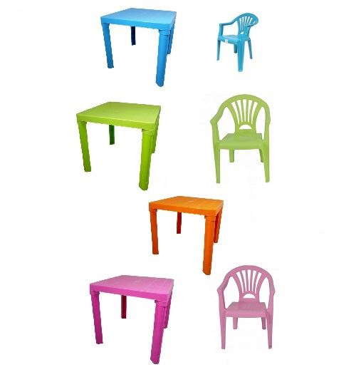 Amazing Details About New Plastic Childrens Table Chairs Set Coloured Nursery Indoor Outdoor Garden Home Interior And Landscaping Oversignezvosmurscom