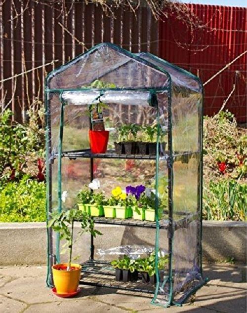 New 3 Tier Wheels Mini Greenhouse Cold Frame Pvc Cover Garden ...