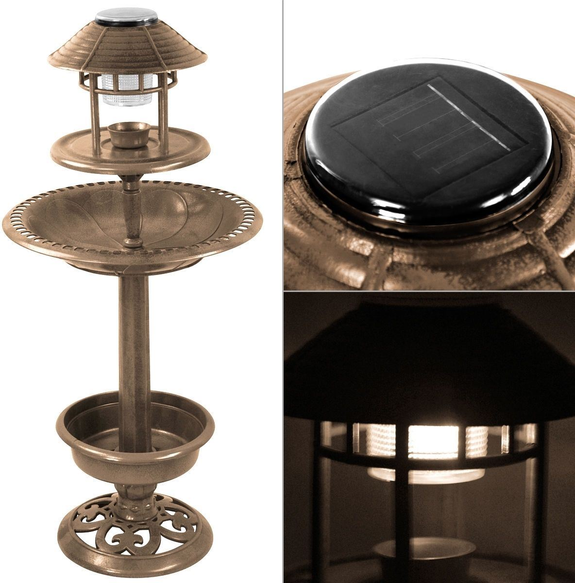 New bird bronze solar ornamental bath garden lantern feeding station table ebay - Dremel 231 tavolo di fresatura ...