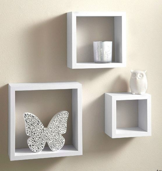 miniature 3 - Set-of-3-or-4-Floating-Wall-Shelves-Storage-Display-Shelf