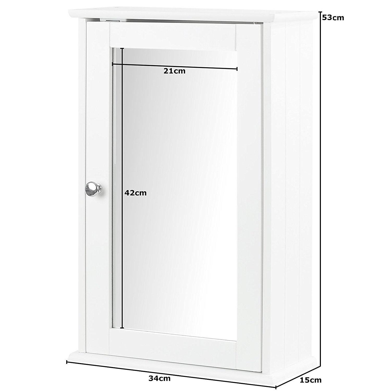 New-White-Wooden-Bathroom-Cabinet-Shelf-Furniture-Cupboard-Bedroom-Storage-Unit miniatuur 4