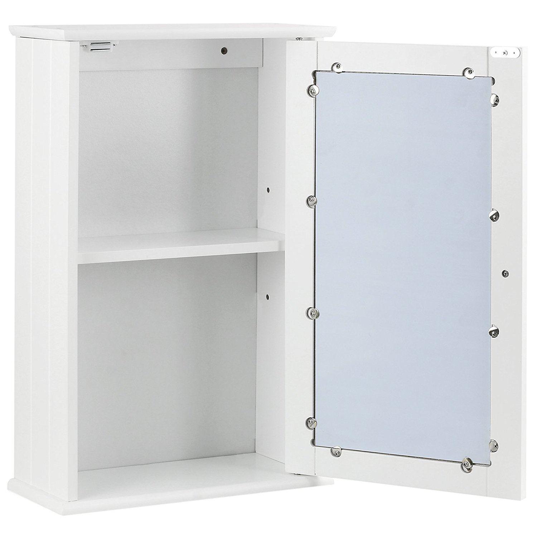 New-White-Wooden-Bathroom-Cabinet-Shelf-Furniture-Cupboard-Bedroom-Storage-Unit miniatuur 3