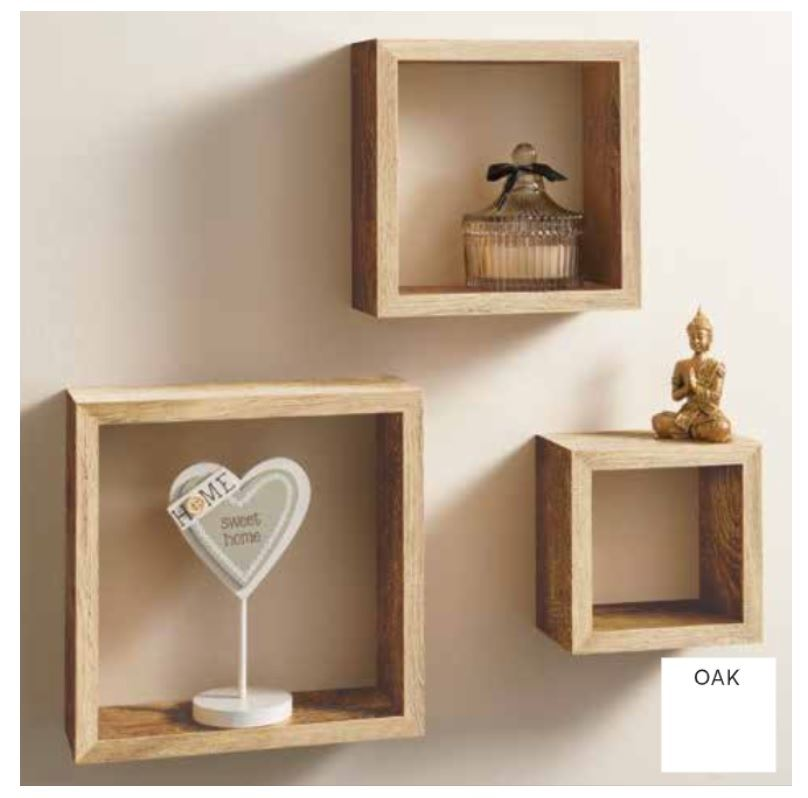 miniature 4 - Set-of-3-or-4-Floating-Wall-Shelves-Storage-Display-Shelf