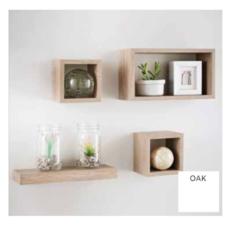 miniature 8 - Set-of-3-or-4-Floating-Wall-Shelves-Storage-Display-Shelf