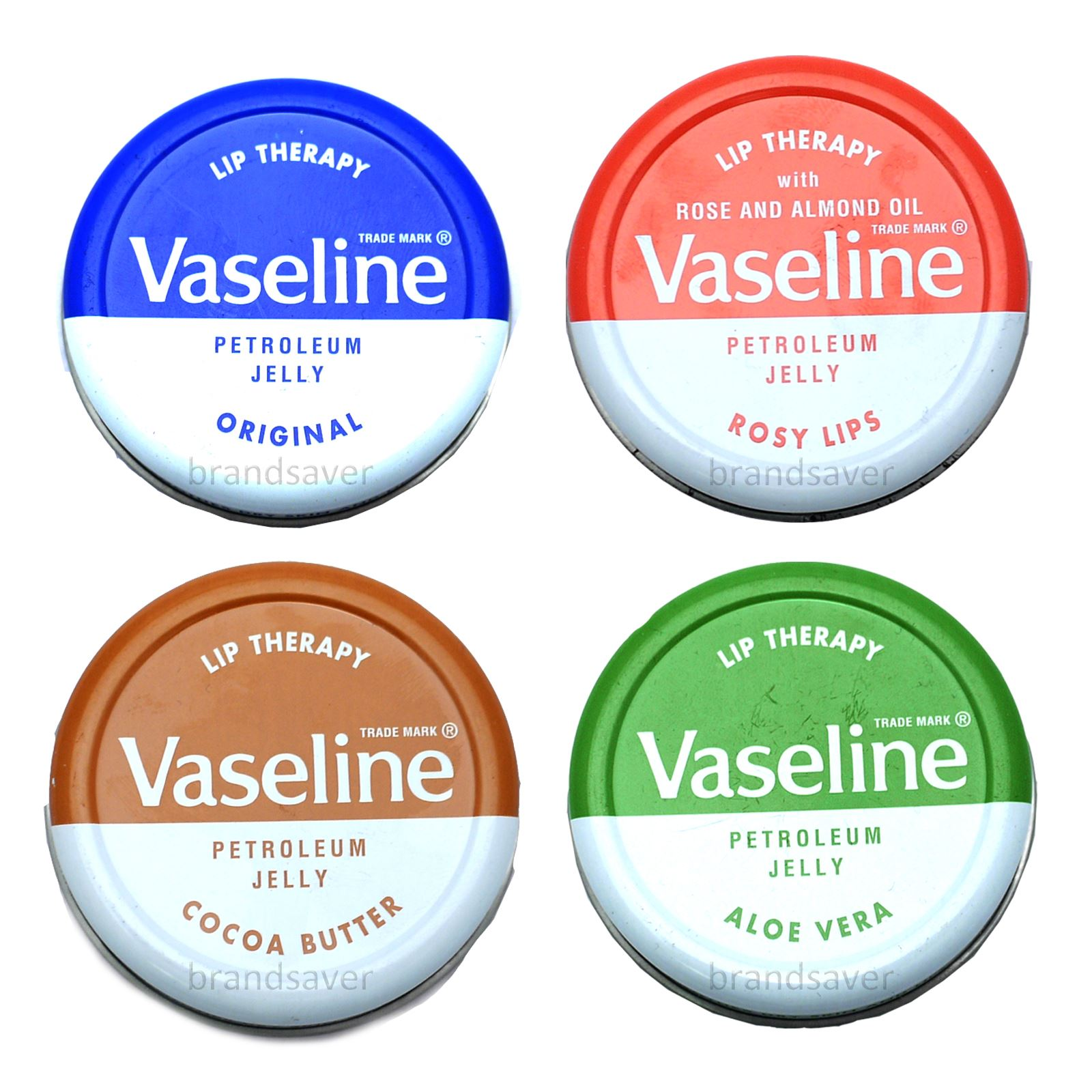 Different types of vaseline petroleum jelly