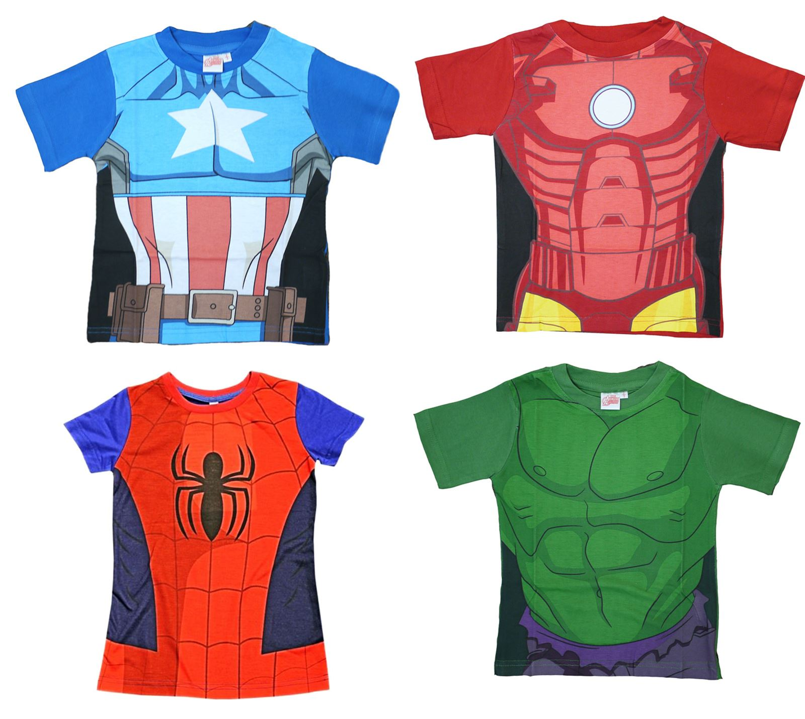 74c06b9335c26 Official Boys Kids T-Shirt Avengers Ultron Hulk Iron Man Captain America  Age 2-7