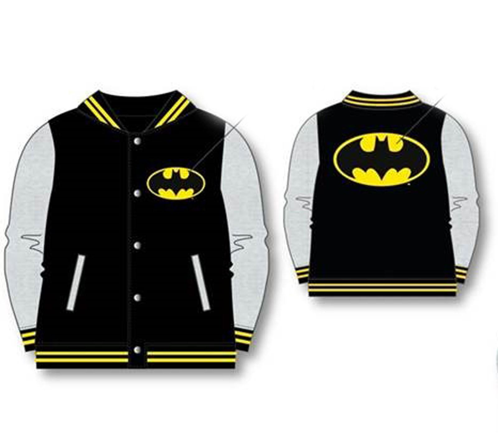 24ae5aad OFFICIAL KIDS BOYS BATMAN SUPERMAN BASEBALL JACKET COAT VARSITY ...