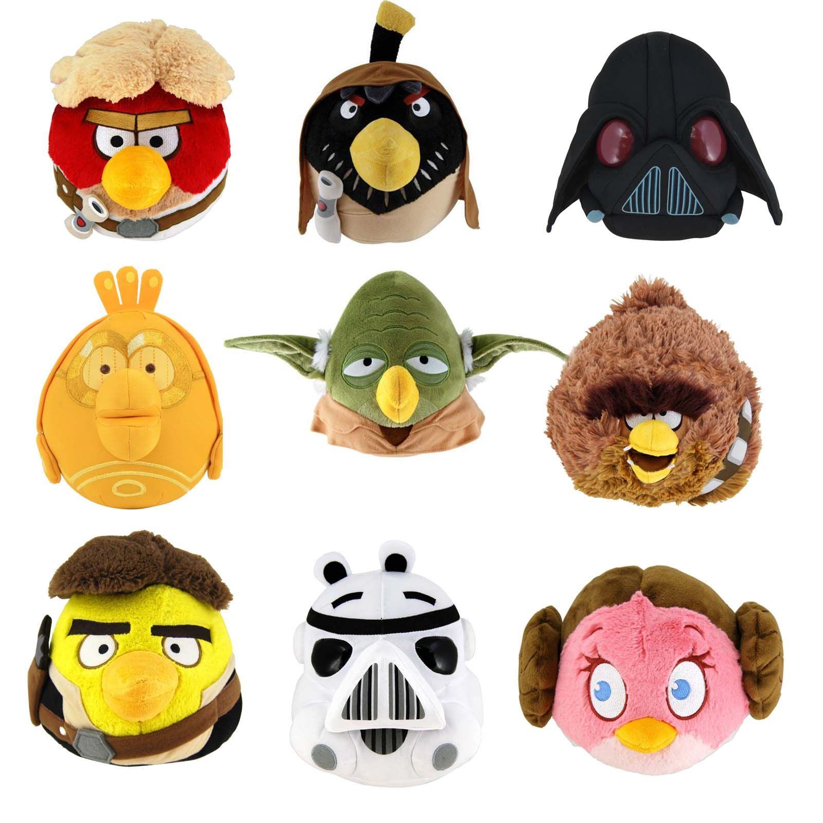 "ANGRY BIRDS STAR WARS 8"" PLUSH SOFT TOY COLLECTIBLE ..."