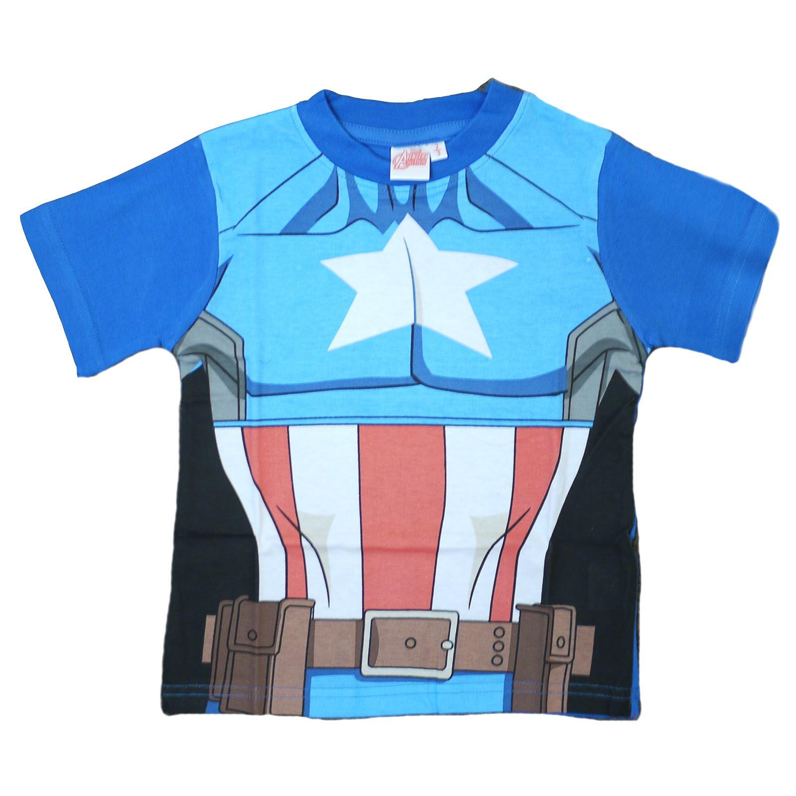 T-shirt-Garcons-Officiel-Enfants-Avengers-Ultron-hulk-iron-man-captain-america-Age-2-7