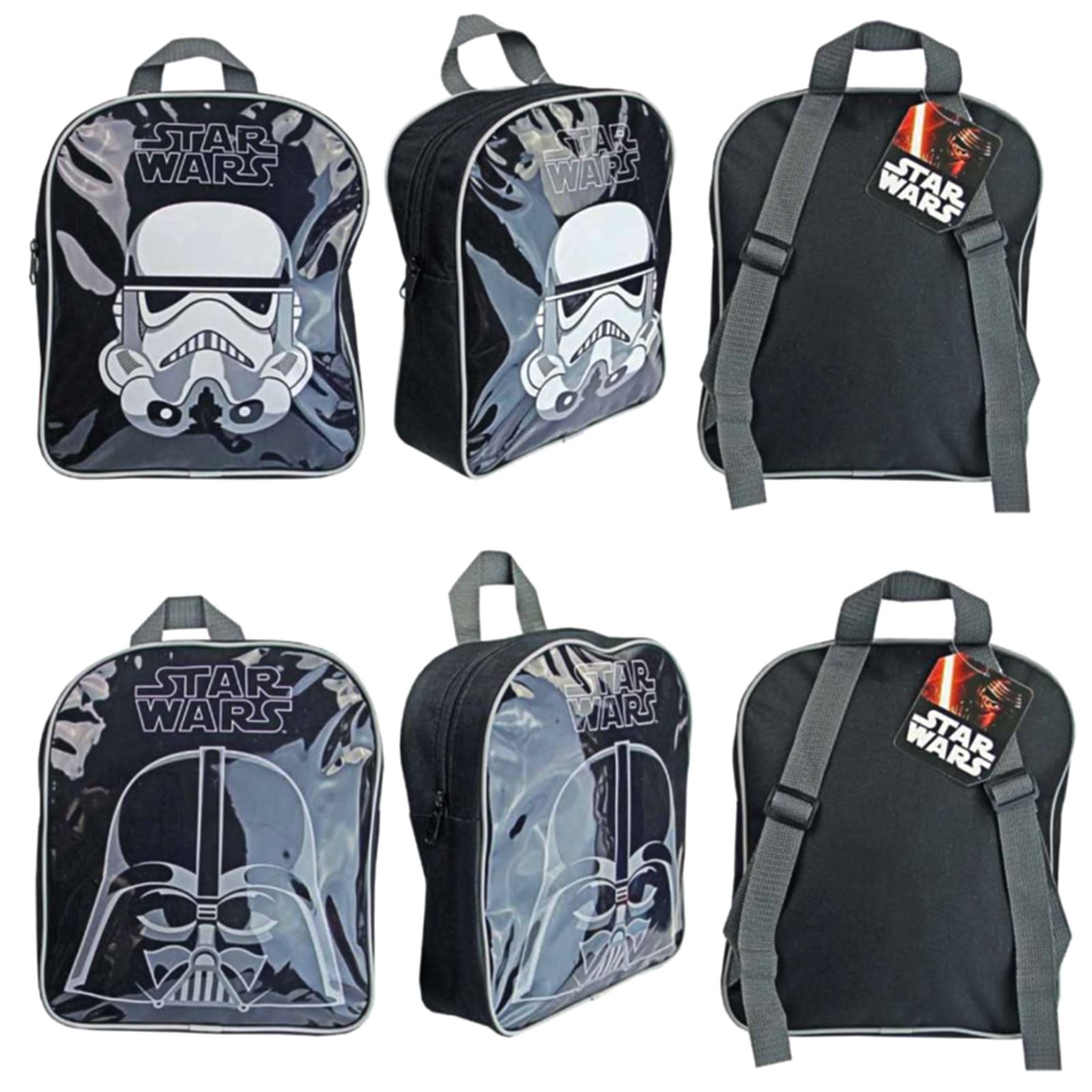 Star Wars Darth Vader /& Storm Trooper Backpack Children School Bags Kids New