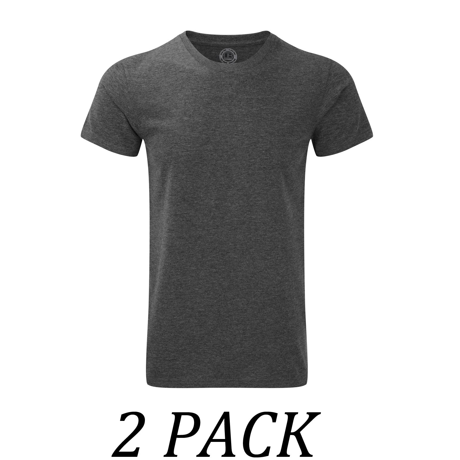 2 pack russell tshirts tops mens heavy duty t shirt crew for Heavy duty work t shirts
