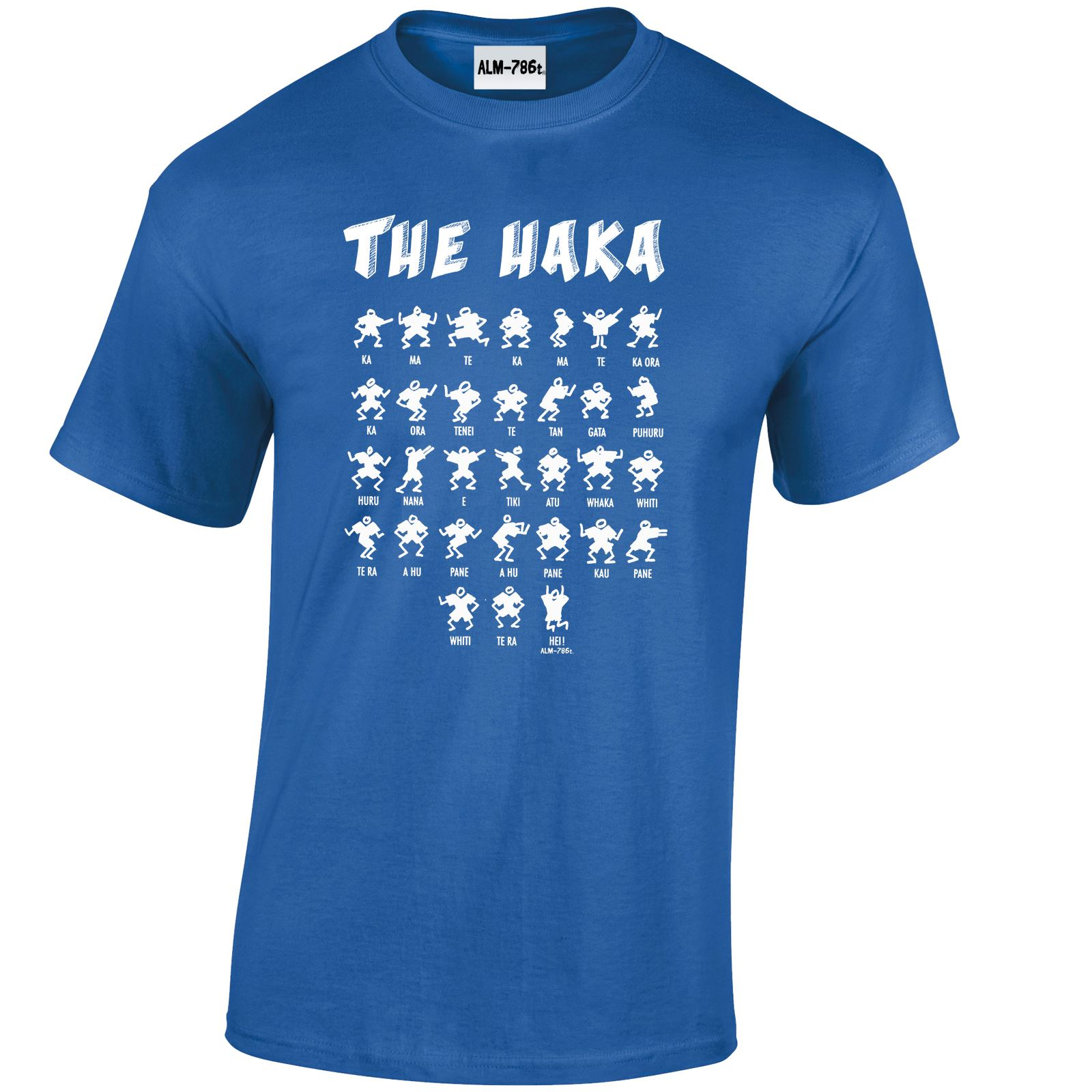 Haka Action Silhouette Mens Womens New Zealand All Tshirt Top Black Funny Rugby