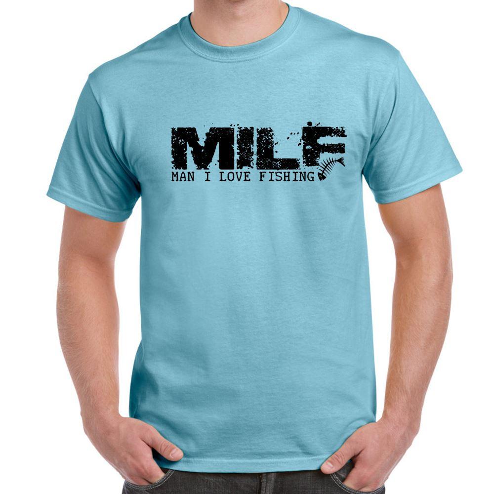 MILF Man I Love Fishing Tshirt Mens Funny