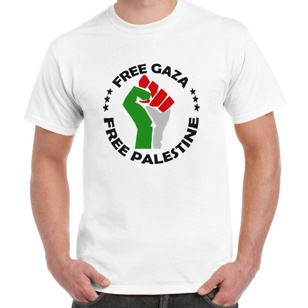 ALM786t-Mens-Novelty-tshirts-Free-Palestine-Free-Gaza-Hand-Symb-Novelty-gifts