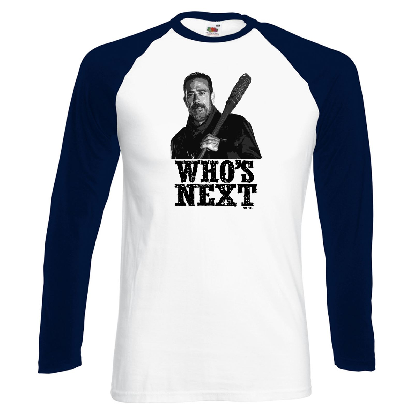 Alm786t Mens Funny T Shirts Who 39 S Next Negan Walking Dead