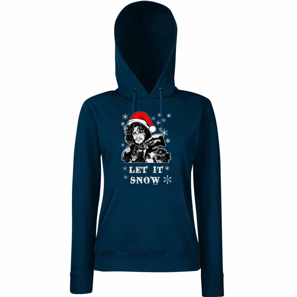 Womens-Funny-Hoodies-Let-it-Snow-Christmas-Santa-Jon-Snow-Game-of-Thrones-Style
