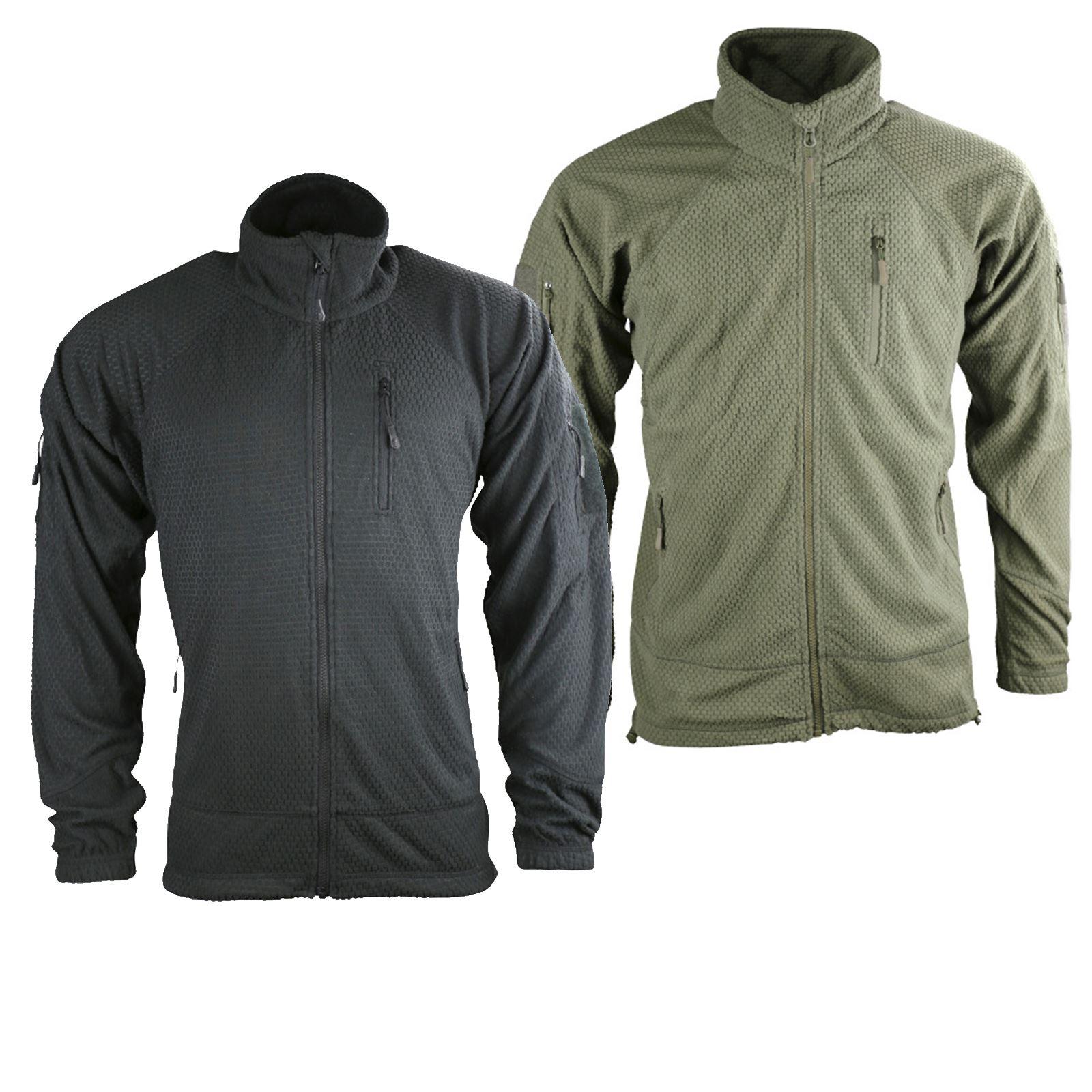 Olive Green Black Military Hunting Kombat UK Gents Delta Tactical Grid Fleece