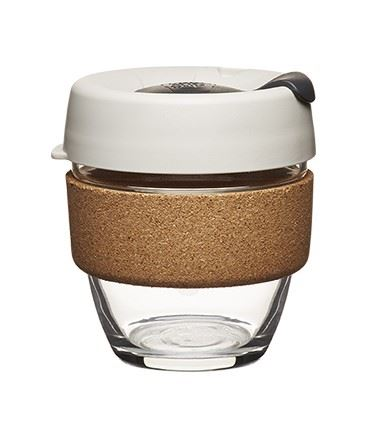 Glass And Cork Travel Mug