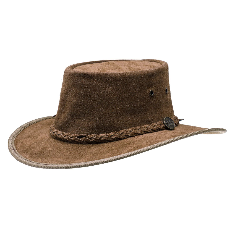 bab4a9482e1 Barmah Foldaway   Squashy Hickory Suede Leather Waterproof Australian Bush  Hat