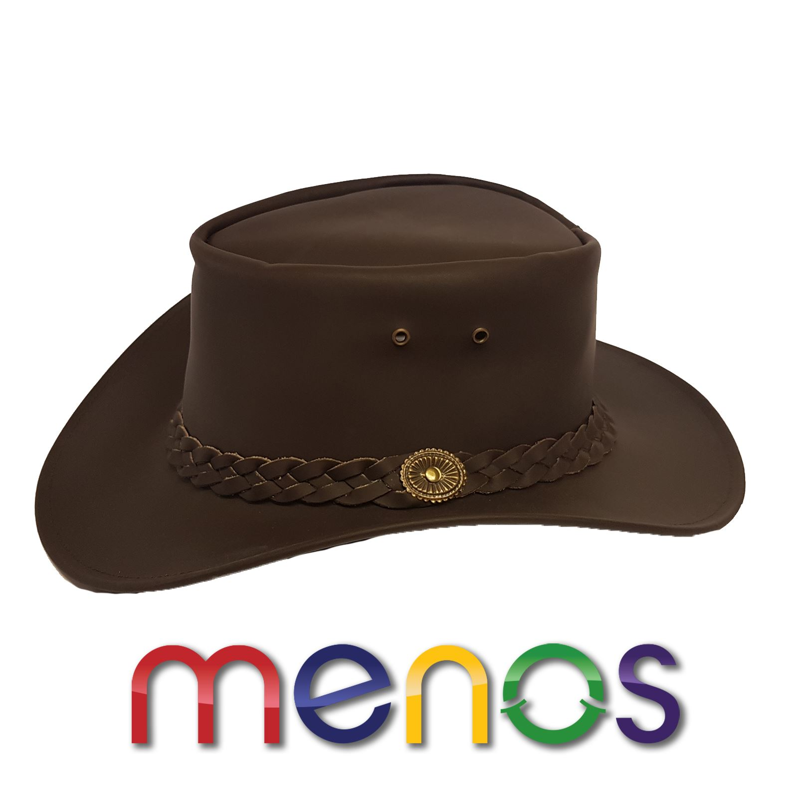 d958d59fa30 Details about AUTHENTIC OUTBACK LEATHER COWBOY WESTERN AUSSIE STYLE BUSH HAT  BROWN LEATHER. Free Chin Strap ...