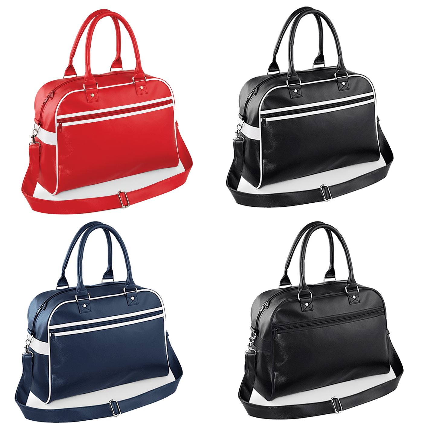 Bagbase Retro Bowling Bag Unisex Mens Womens Holdall Handbag Gym Travel BG75
