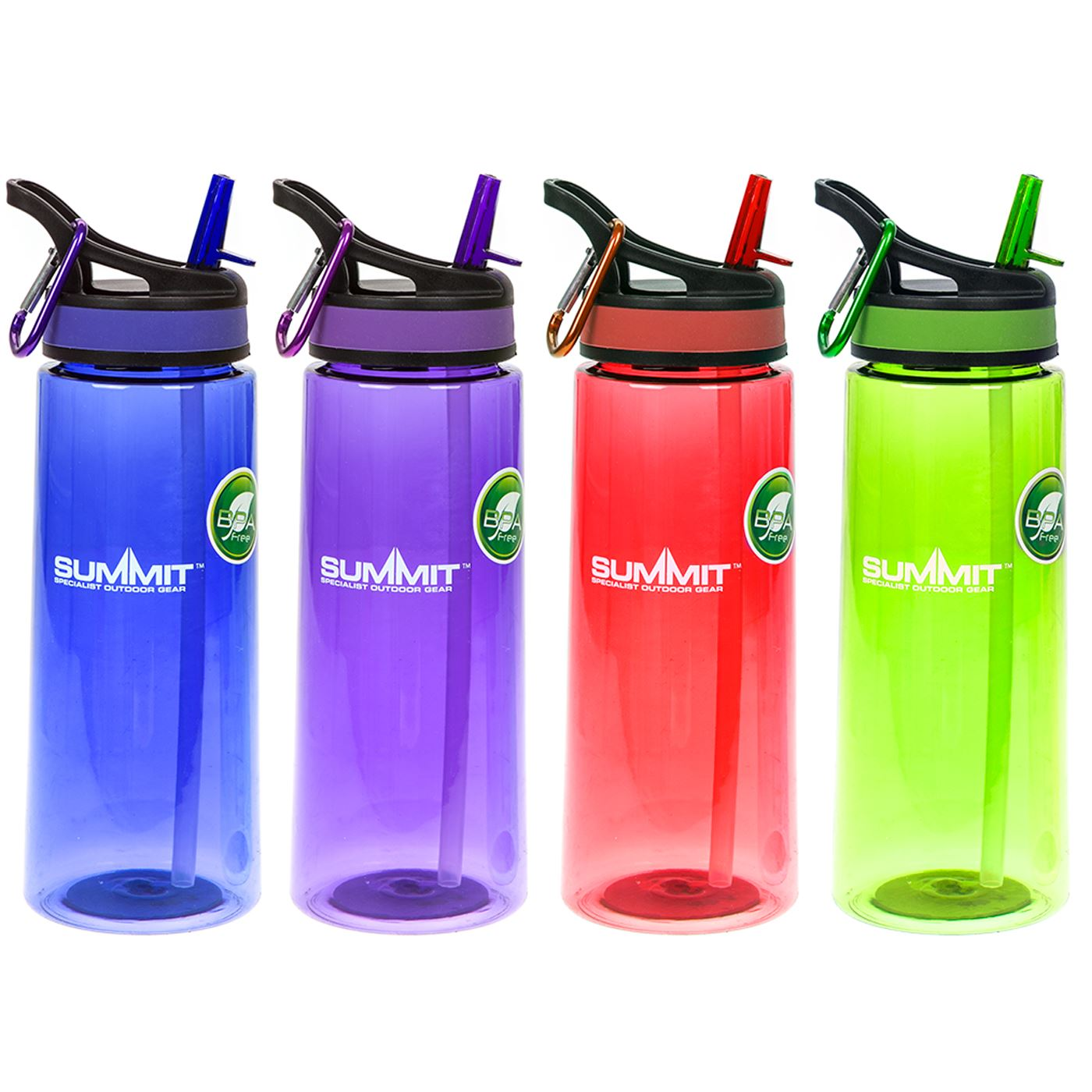 60394c528c Details about Colourful Large Quality 700ml BPA Free Water Bottle with Straw  & Free Carabiner