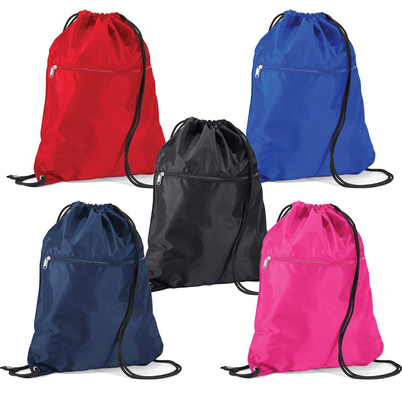 Quadra Premium Gymsac Drawstring Gym Sack Bag PE Sport Shoe Backpack School