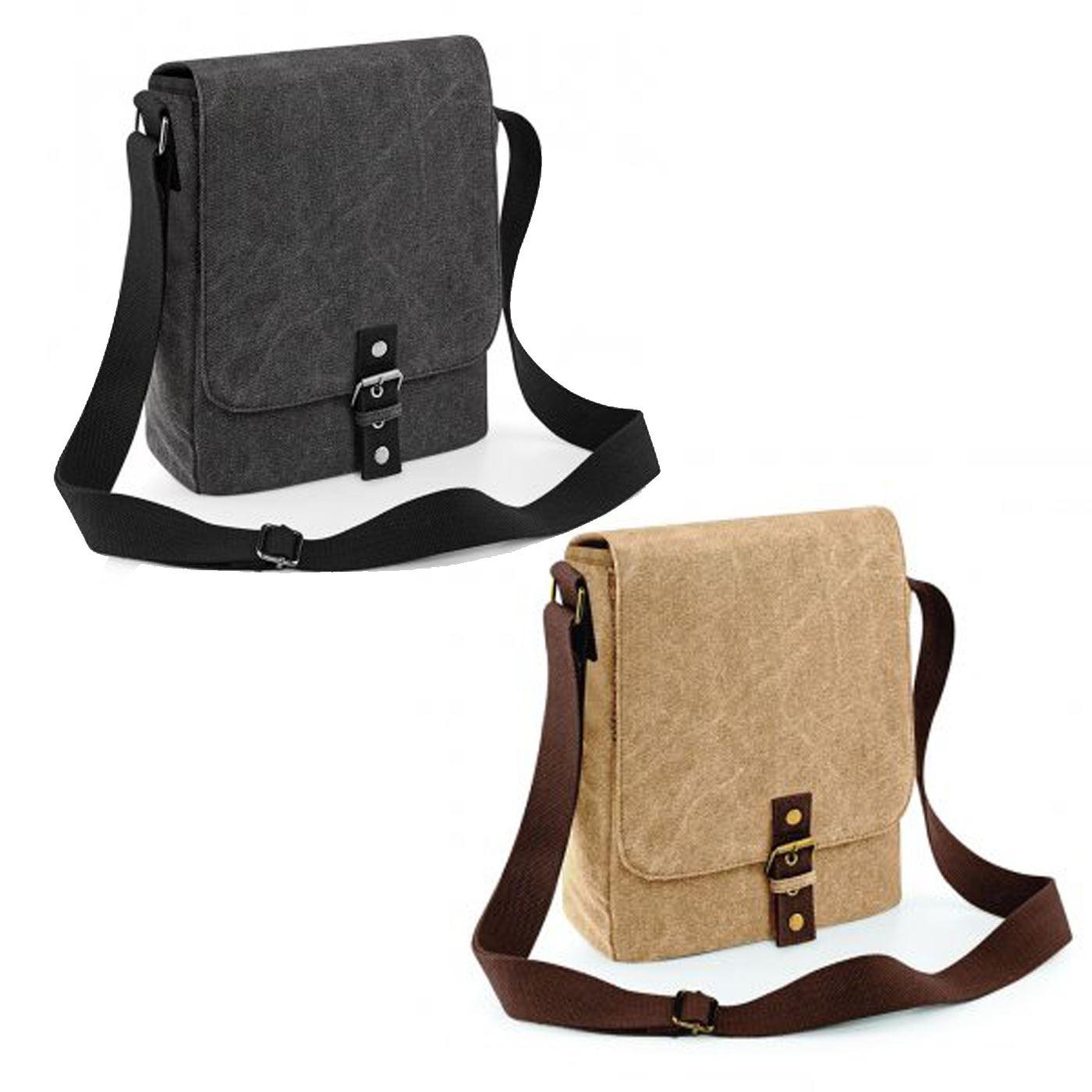 7cfc0df7ac Details about Quadra Vintage Canvas iPad Tablet Reporter Shoulder Carry Bag  Pouch Messenger