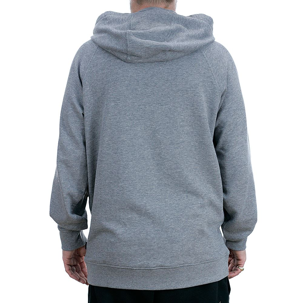 b88f13afec Vans Stacked Rubber Hooded Sweatshirt Cement Heather Grey