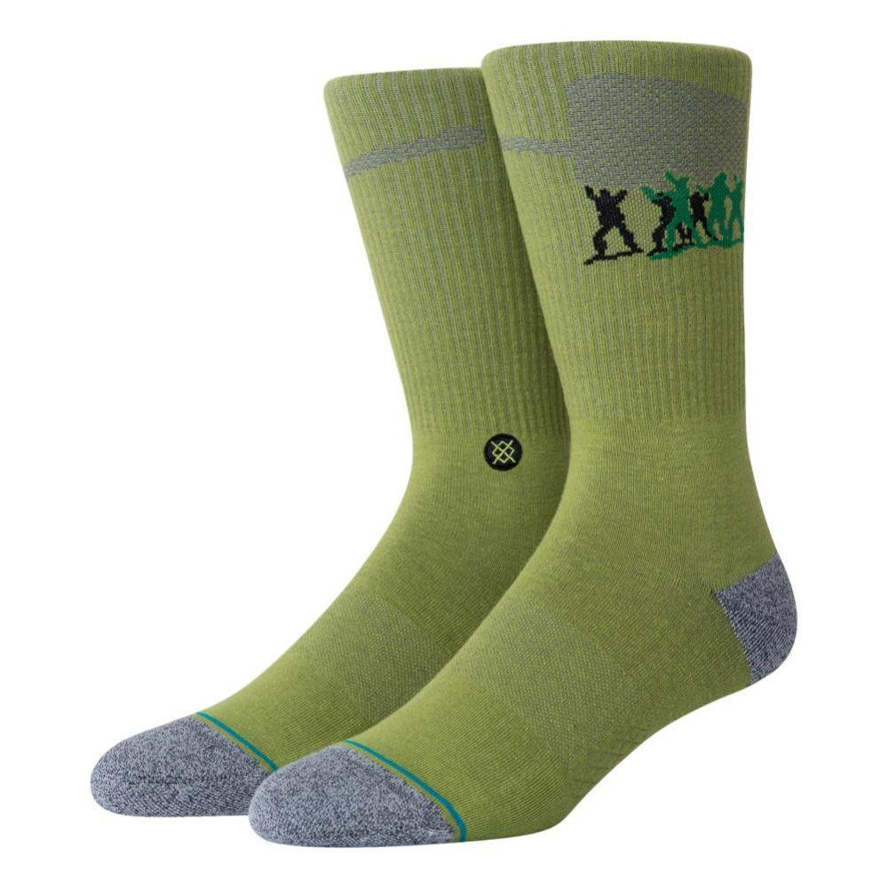 Stance Mens Devil/'s Peak Outdoor Socks Blue Green Sports Outdoors Breathable