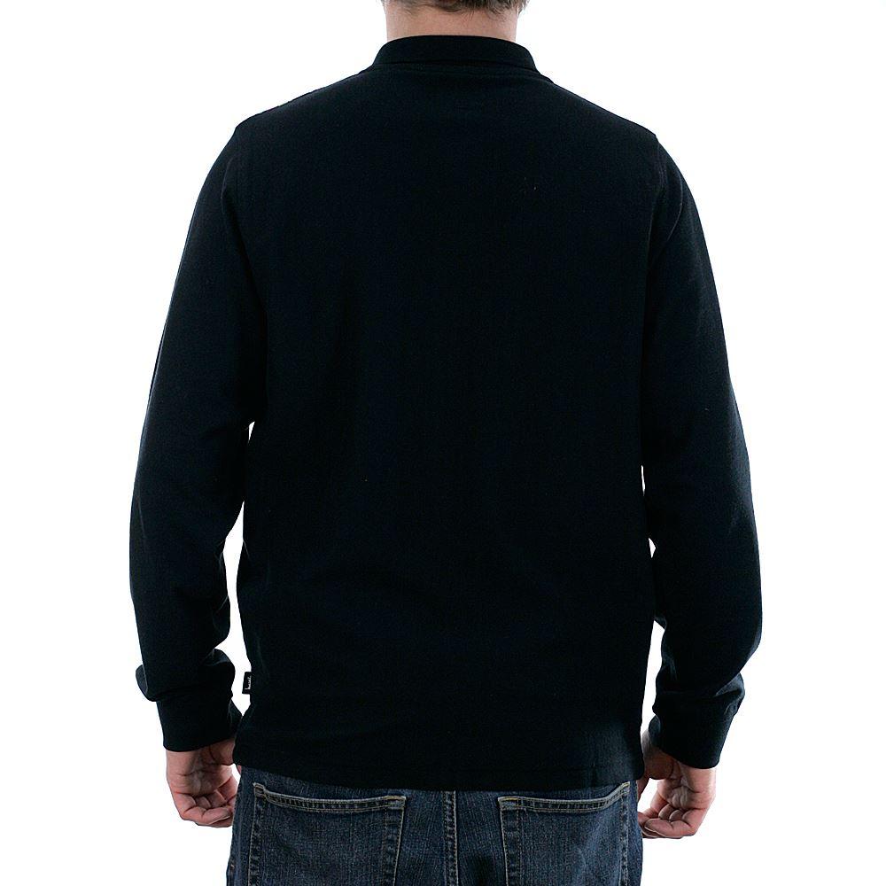 6a2409ae £102.95. Stussy Simon Long Sleeved Zip Polo Shirt Black ...