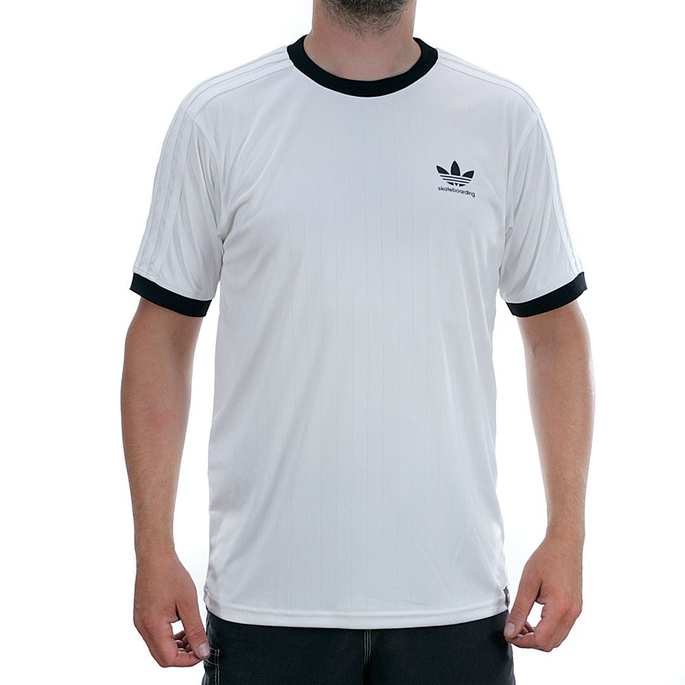 Details about Adidas Skateboarding Clima Club Jersey White Black