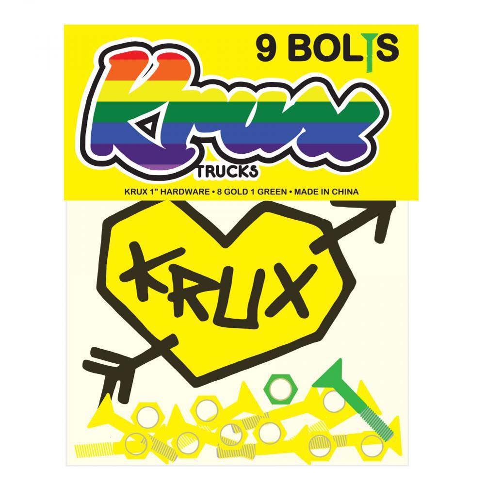 Krux Krome Bolts Phillips Hardware 1 Inch Skateboard Bolt One Size Blue