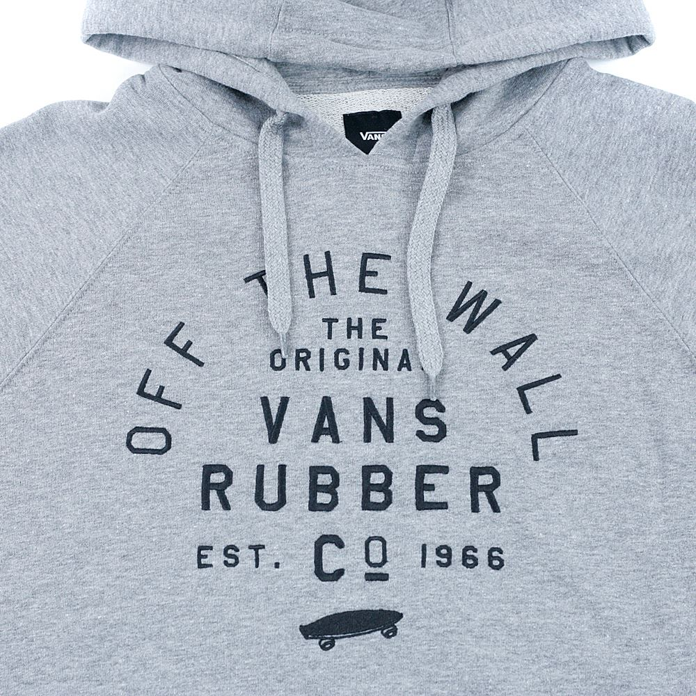 a40a76f11a £69.95. Vans Stacked Rubber Hooded Sweatshirt Cement Heather ...