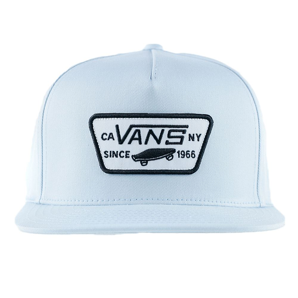 14bfa996acece5 Details about Vans Full Patch Snapback Hat Baby Blue NEW 2018