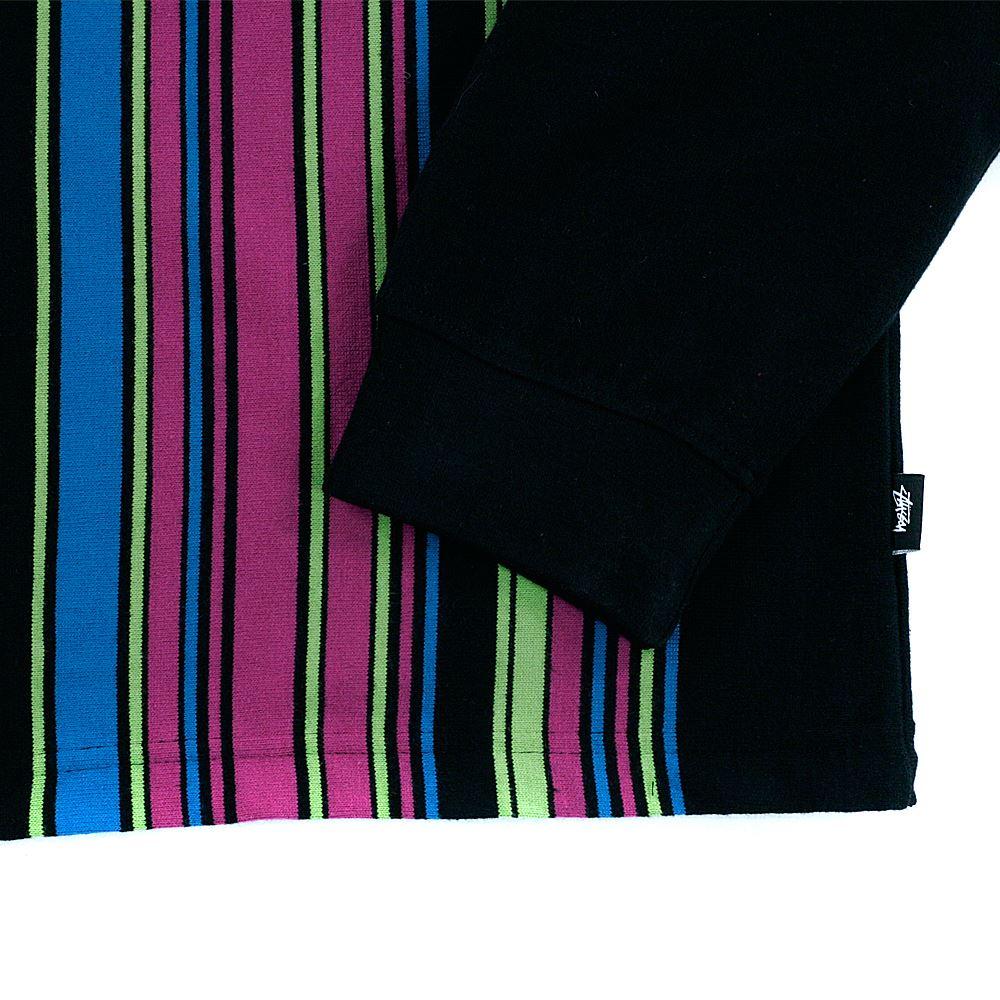 0cb9bde9 Stussy Simon Long Sleeved Zip Polo Shirt Black | eBay