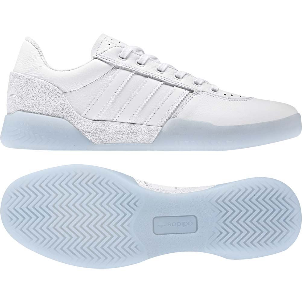 6b9238070f2 Adidas Skateboarding City Cup Feather White Gold Metallic Skate Shoes NEW