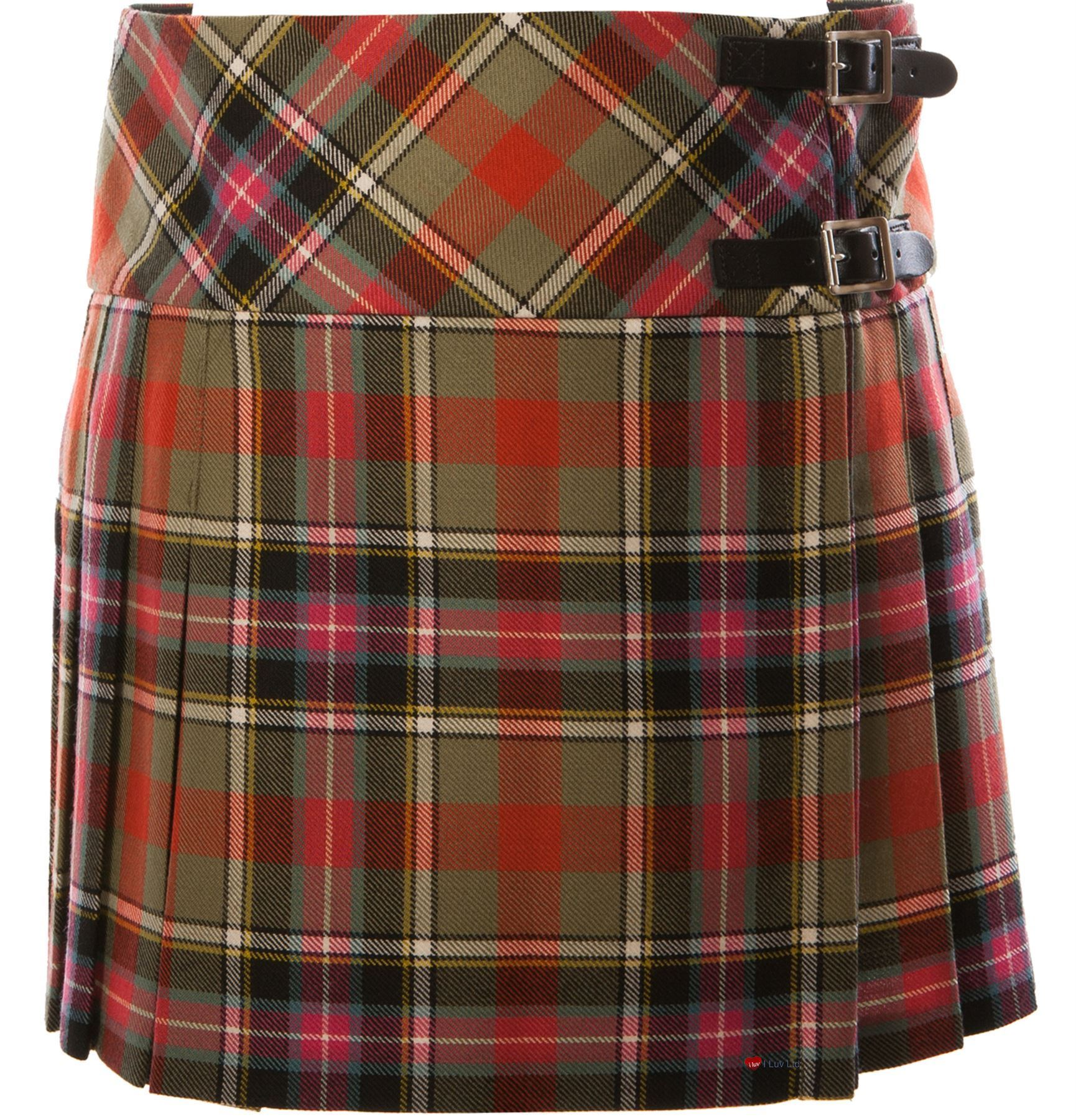 Ladies Pure Wool Tartan Billie Kilt 15  Length Bruce of Kinnaird